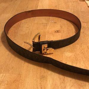 Michael Kors synthetic leather large women's belt